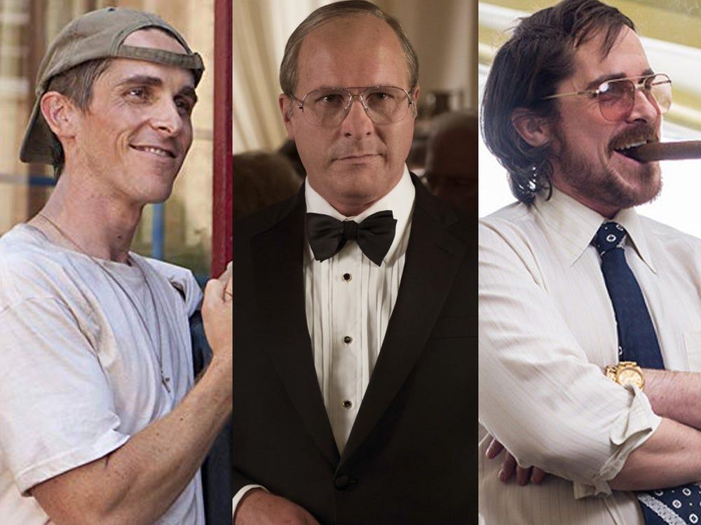 Cele mai mari transformări corporale ale rolului filmului